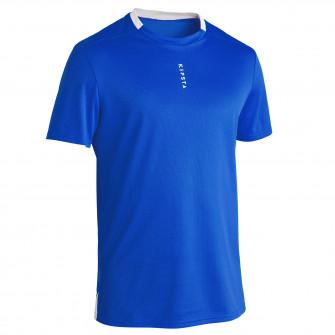 Tricou Fotbal F100 Albastru Adulti