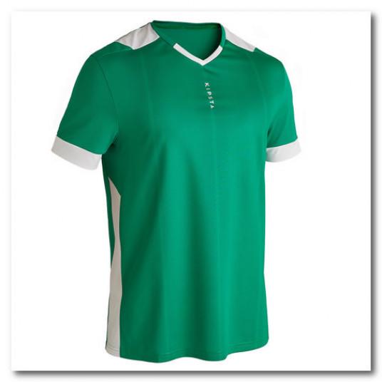 Tricou Fotbal F500 Verde Adulti