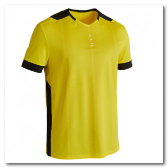 Tricou Fotbal F500 Galben Adulti