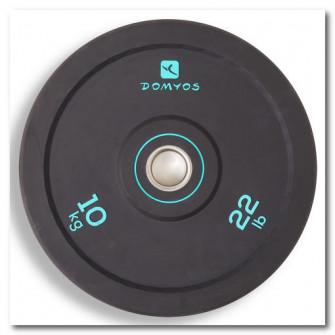 Disc bumper haltere 10 kg, diametru interior 50 mm
