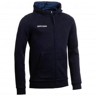 Jacheta cu fermoar rugby R 500 Albastru Copii