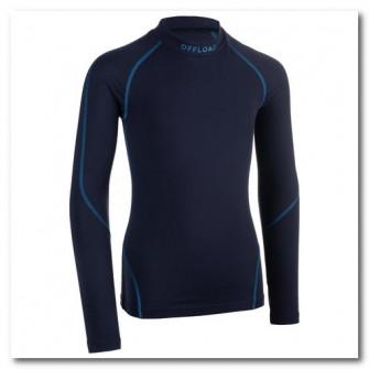 Bluza rugby 500 Albastru Copii