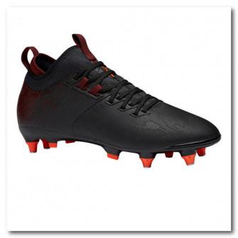 Ghete Mid Fotbal Agility 900 SG Negru/Bordo Adulti