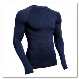 Bluza fotbal Keepdry 500 Albastru Adulti
