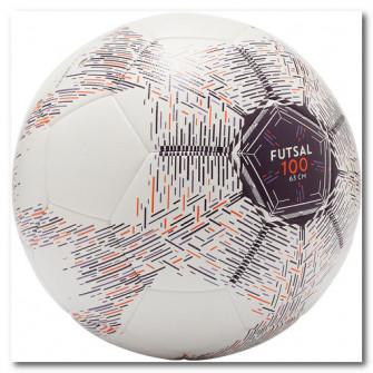 Minge Futsal 100 Hybride 63 cm Alb