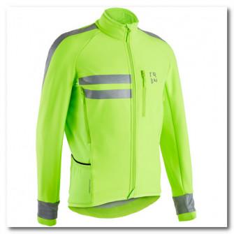 Jacheta ciclism iarna RC 500 Galben fluo EN1150 Barbati