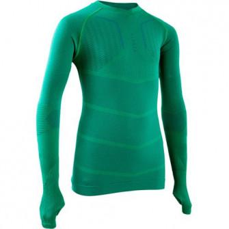 Bluza Fotbal Keepdry 500 Verde Copii