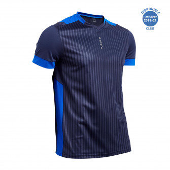 Tricou Fotbal F500 Albastru Adulti