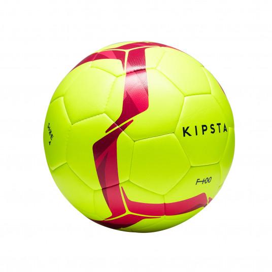 Minge Fotbal F100 Hybride Marimea 4 Galben/Roz Copii