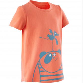 Tricou 100 Baby Gym portocaliu/turcoaz copii