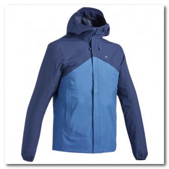 Jacheta impermeabila Drumetie la munte MH150 Albastru B