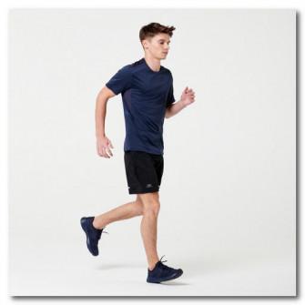 Tricou Jogging Run Dry+ Albastru Barbati