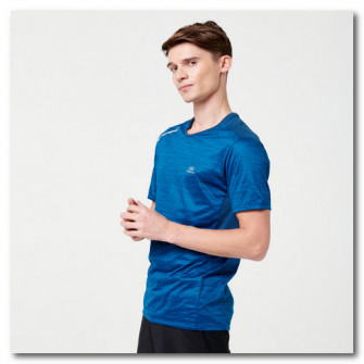 Tricou Alergare Run Dry+ Albastru Barbati