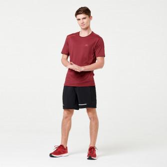 Tricou Jogging Run Dry+ Bordo Barbati