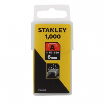 Capse tip A, Stanley, 6 mm, set 1000 bucati