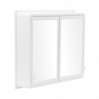 Dulap baie cu oglinda, Venus 006, 2 usi, alb, 48 x 15 x