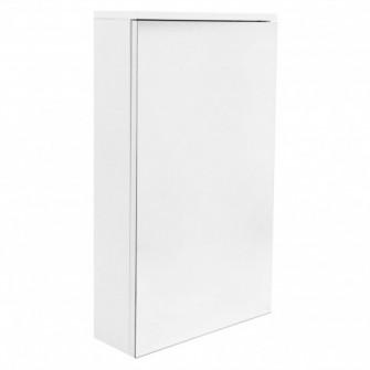 Dulap baie cu oglinda, 1 usa, Martplast Diana, alb, 40