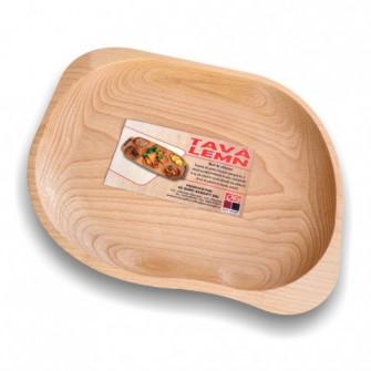 Tava asimetrica pentru servire, din lemn, 5288, , 31 x