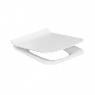 Capac WC din duroplast, Cersanit Como K98-0143, alb, in