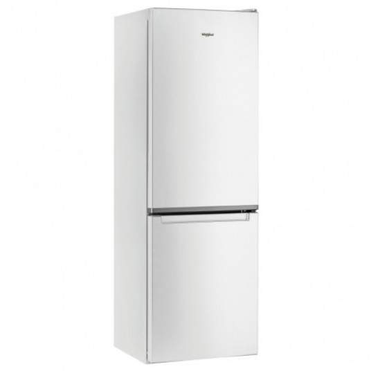 Combina frigorifica Whirlpool W5 911E W, 372 l, clasa A+, inaltime 201.1 cm, tehnologie al 6-lea simt, sistem LessFrost, Fresh Box, alba