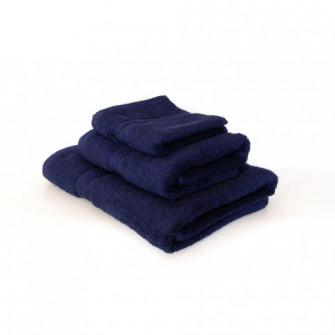 Prosop baie, bumbac, bleumarin, 70 x 130 cm