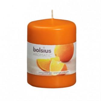 Lumanare decorativa NKS0184X80, tip stalp, portocaliu,