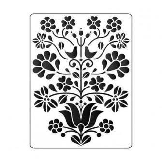 Sablon decorativ cu model floral