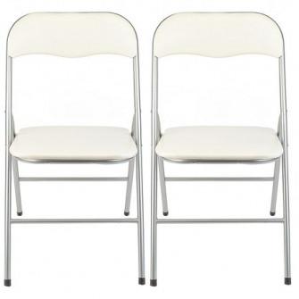 Set 2 scaune bucatarie, pliante, Kring Primo, Bej