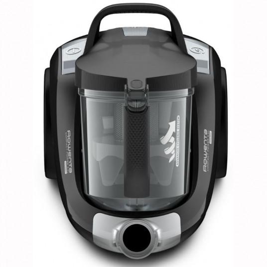 Aspirator fara sac ROWENTA Compact Power XXL RO4825EA, 550W, 2.5L, 8.8m, Effitech, Clean Express, monicyclonic, perie easybrush, negru
