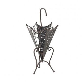 Suport umbrela din fier Bronze Black, 28 x 68 cm