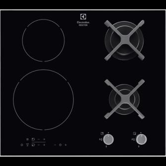 Plita incorporabila Electrolux EGD6576NOK, Mixta, 2 arz