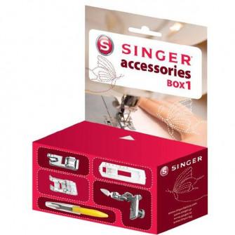 Accesorii Singer Box 1, set 4 picioruse + taietor buton
