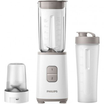 Mini blender Philips HR2603/00, 350 W, 1 L, 2 viteze, r