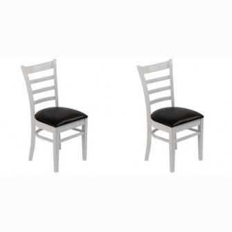 Set 2 scaune Kring Virginia, lemn, Alb mat
