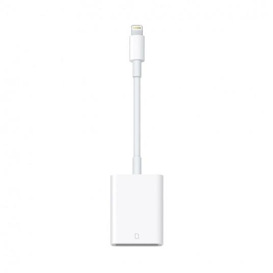 Adaptor Apple Camera Reader, Lightning to SD Card, White