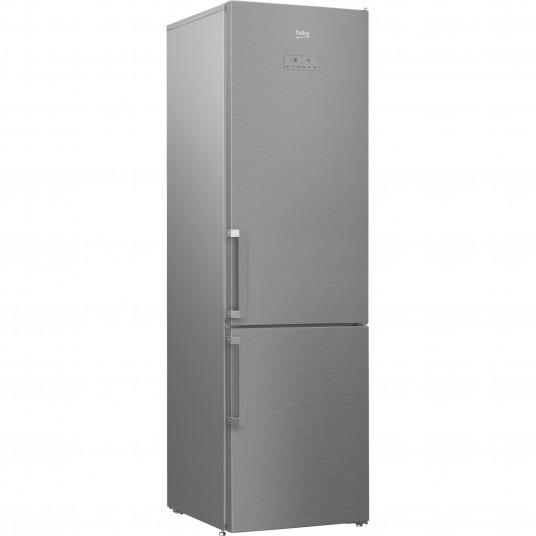 Combina frigorifica Beko RCNA406E41ZXB, 362 l, Clasa A+++, NeoFrost, Compartiment 0°C, Kitchen Fit, Everfresh+, H 203, Argintiu