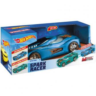 Masinuta Hot Wheels Spark Racer - Spin King, cu lumini