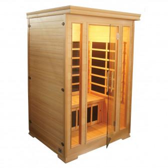 Sauna cu infrarosu KOMFORT pentru 2 persoane, Hemlock c
