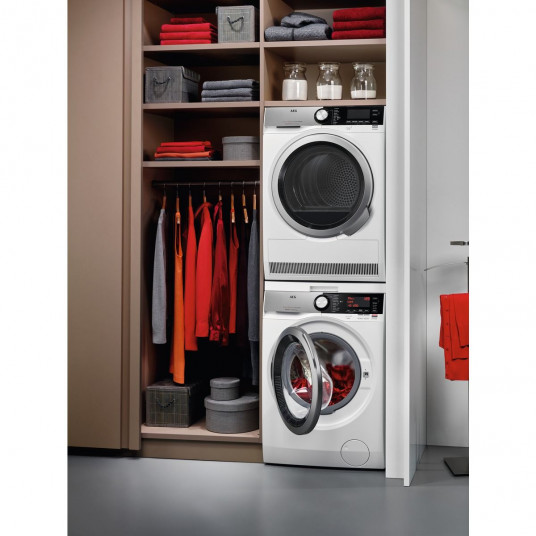 Masina de spalat rufe AEG L8FEC68S, 8 kg, 1600 RPM, Clasa A+++, Functie Eco TimeSave, Alb