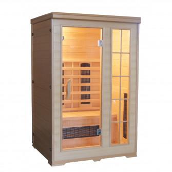 Sauna cu infrarosu KOMBI pentru 2 persoane, Hemlock can