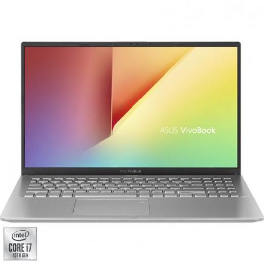 "Laptop ASUS VivoBook K512JA cu procesor Intel® Core™ i7-1065G7 pana la 3.90 GHz, 15.6"", Full HD, 8GB, 512GB SSD, Intel® Iris™ Plus Graphics, Free DOS, Transparent Silver"
