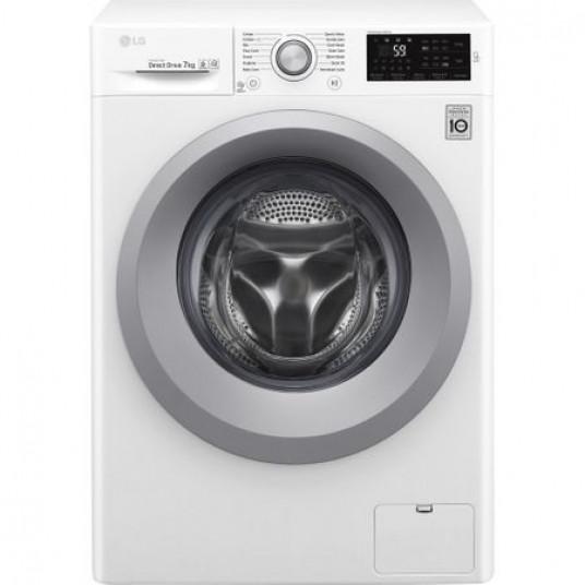 Masina de spalat rufe LG F2J5QN4W, Direct Drive, 7 kg, 1200 RPM, Clasa A+++, 60 cm, Alb