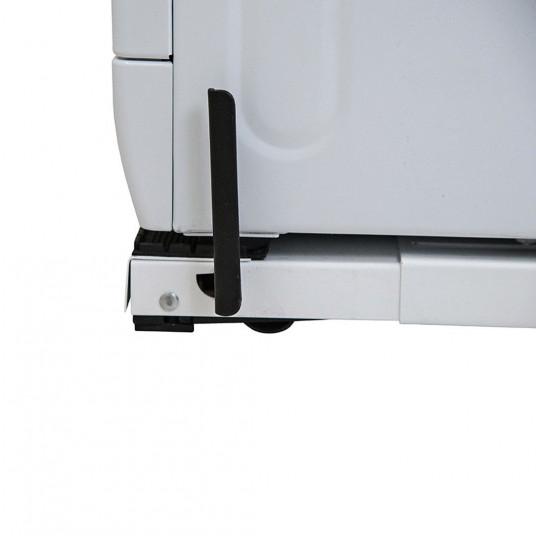 Suport masina de spalat - uscator de rufe pe roti, reglabil Roller cu sistem antivibratii (alb)