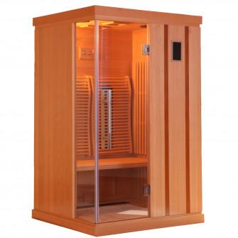 Sauna cu infrarosu TRENDY, pentru 2 persoane, Hemlock c