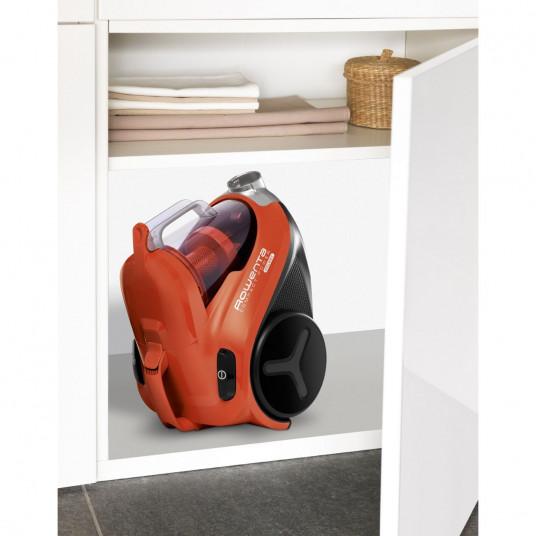 Aspirator fara sac Rowenta Compact Power RO3724, 750 W, 1.5 L, Filtru de inalta eficienta, Rosu