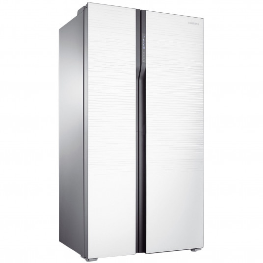 Side by side Samsung RS552NRUA1J, 538 l, Clasa A+, Full No Frost, Twin Cooling, Compresor Digital Invertor, H 179 cm, Alb