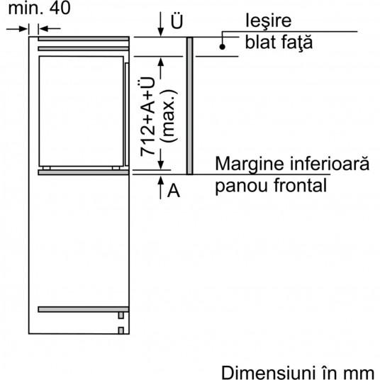 Congelator incorporabil Neff GI1113F30, 72 l, Clasa A++, Low Frost, Touchcontrol, Afi?aj LED, H 71 cm