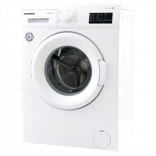 Masina de spalat rufe Heinner HWM-V7010A++, 7KG, 1000 RPM, Clasa A++, Ecran LED, Functie start intarziat, Sistem Eco Logic, 60 cm, Alb