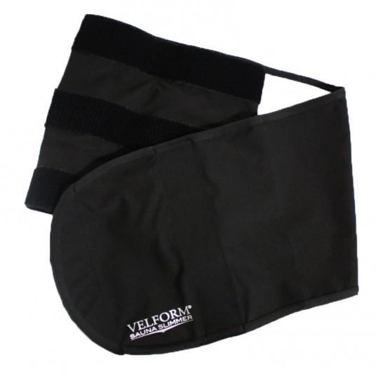 Centura pentru slabit cu efect de sauna, Unisex, 115 x 22 cm, negru, Siks