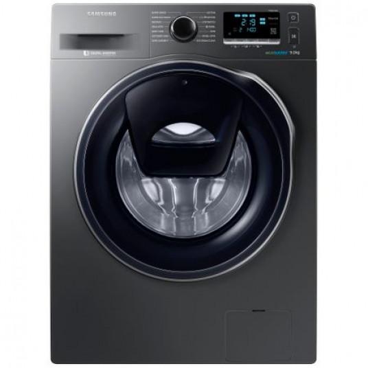 Masina de spalat rufe Samsung Eco Bubble AddWash WW90K6414QX/LE, 1400 RPM, 9 kg, Inverter, Clasa A+++, Inox